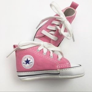 Converse Pink Baby Shoes , size 2